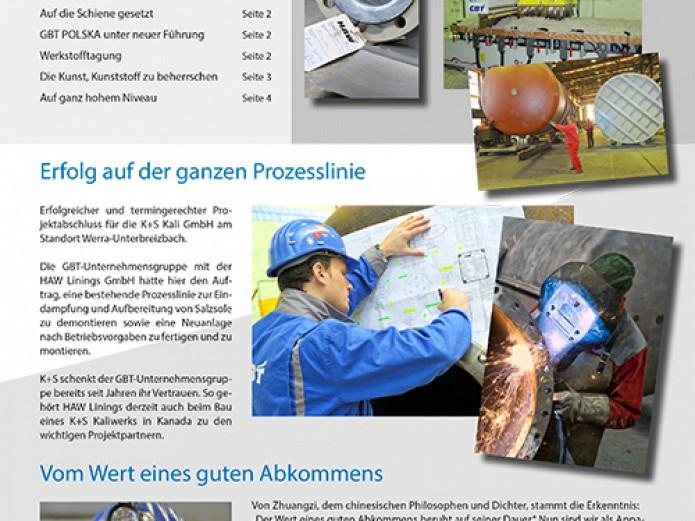 Messenger: informacje, wiadomości i perspektywy w bieżącym numerze magazynu dla klientów firmy GBT.